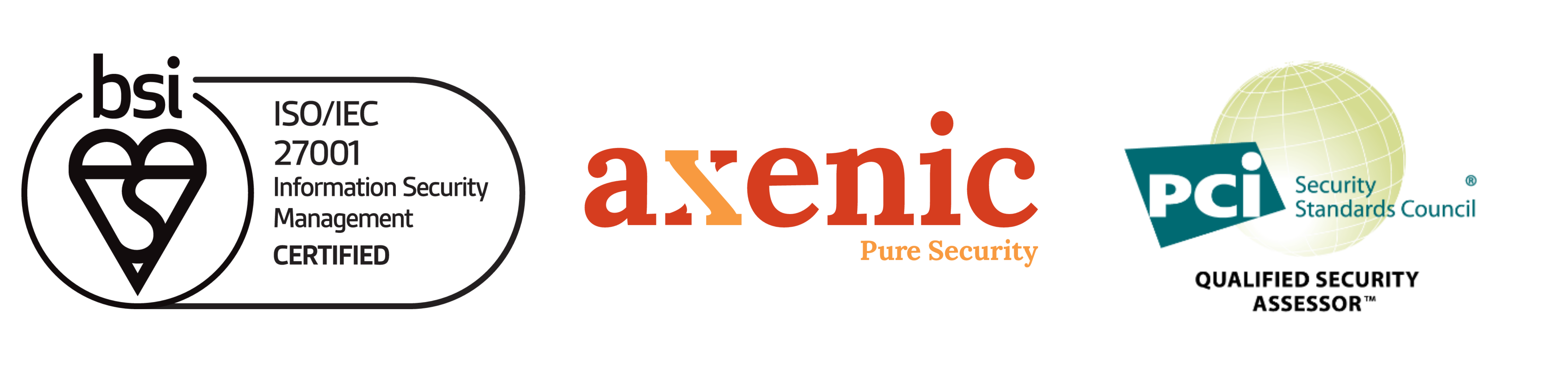 Axenic ISO 27001 PCI DSS credentials